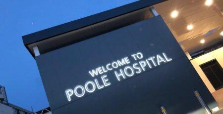 poole hospital sign