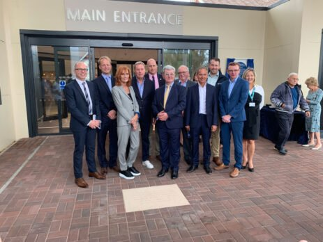 opening Poole Hospital Entrance